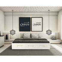 מיטה זוגית מעוצבת מעץ + מזרן אולימפיה