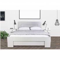 מיטה זוגית מעץ מעוצבת + מזרן אולימפיה
