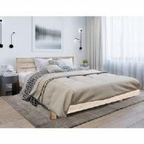 מיטה זוגית מעץ מלא כולל מזרן אולימפיה