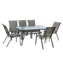 סט גינה מפואר שולחן + 6 כסאות Australia Camp