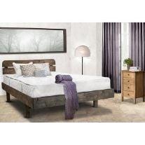 מיטה זוגית מעץ אורן מלא + מזרן אולימפיה